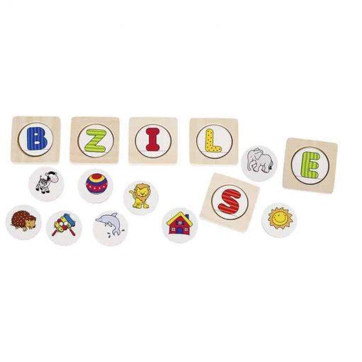 Buchstaben lernen, Lernspiel von goki auf www.ShopWieMelly.at