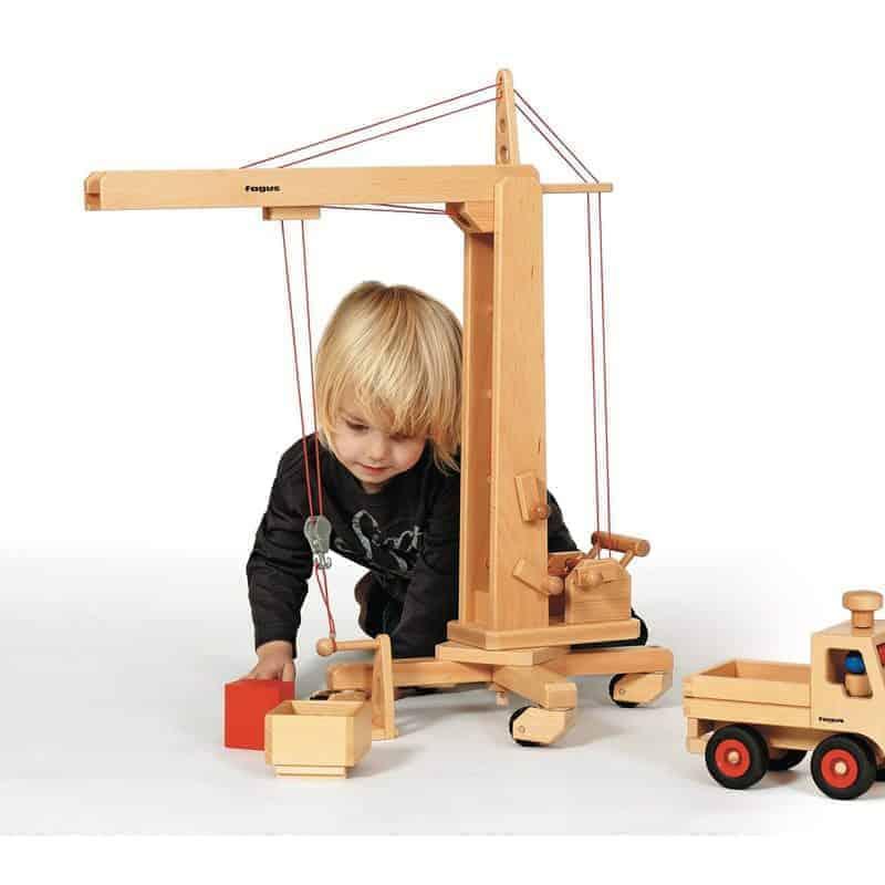 Kran, Hochkran aus Holz - Spielzeugfahrezeuge von fagus auf www.ShopWieMelly.at - fagus kaufen bei Shop Wie Melly Österreich
