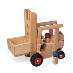Gabelstapler aus Holz - Spielzeugfahrezeuge von fagus auf www.ShopWieMelly.at - fagus kaufen bei Shop Wie Melly Österreich
